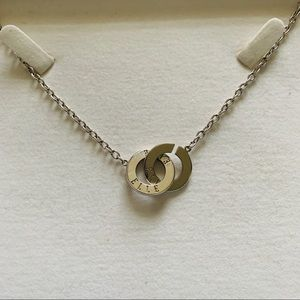 ELLE Sterling Silver .925 Round Circle Necklace